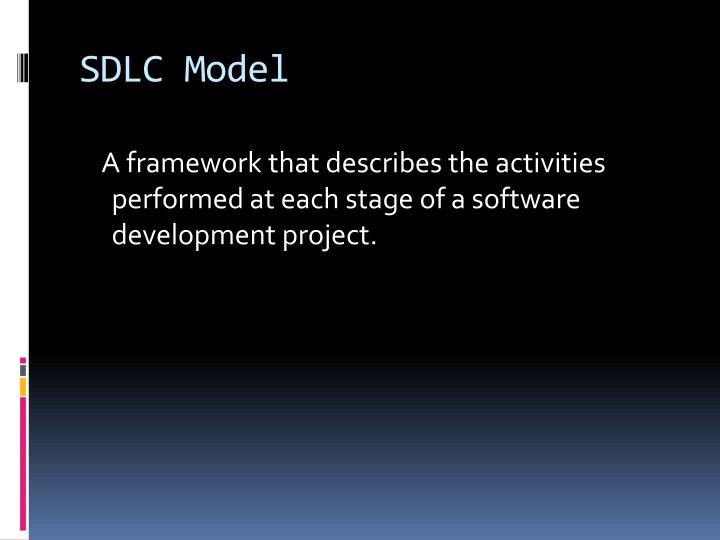 SDLC Model