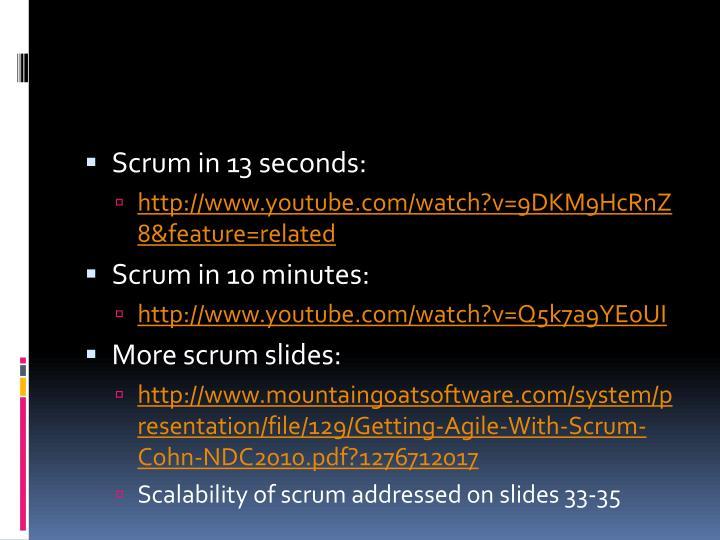 Scrum in 13 seconds: