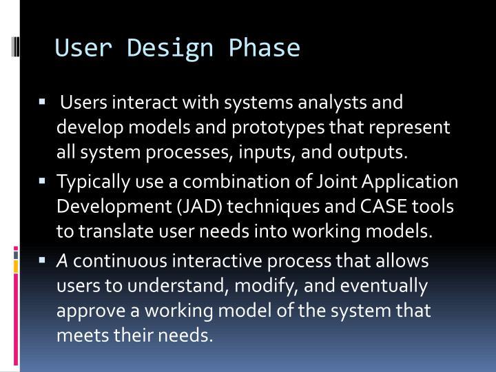 User Design Phase