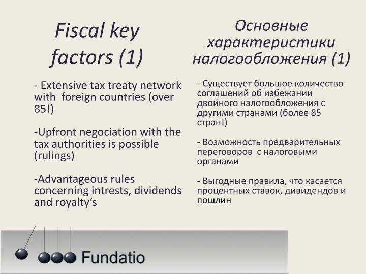 Основные характеристики налогообложения