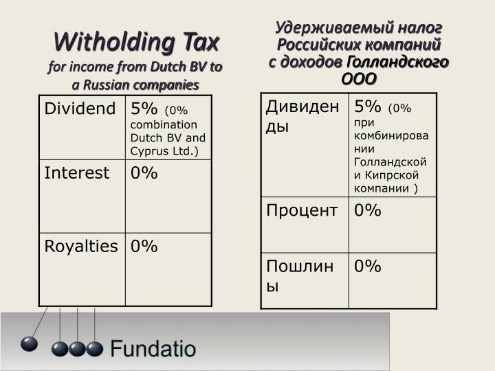 Удерживаемый налог