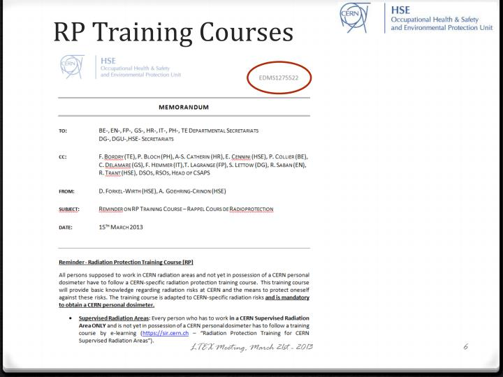 RP Training Courses