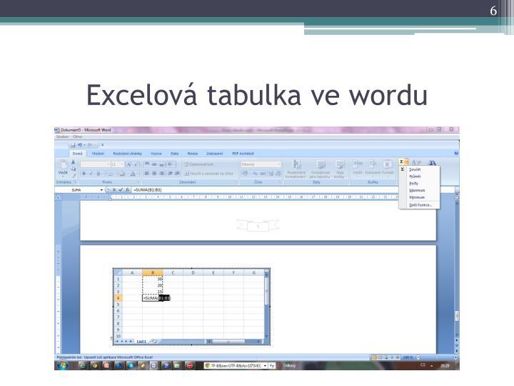 Excelová