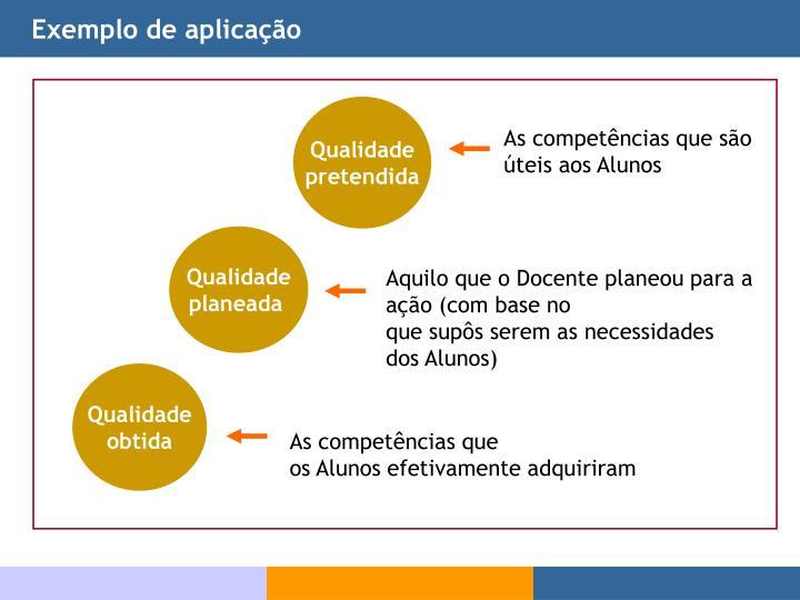 Exemplo de aplicação