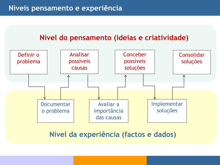 Níveis pensamento e experiência