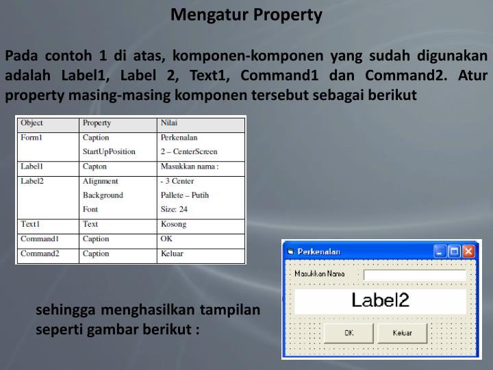 Mengatur Property