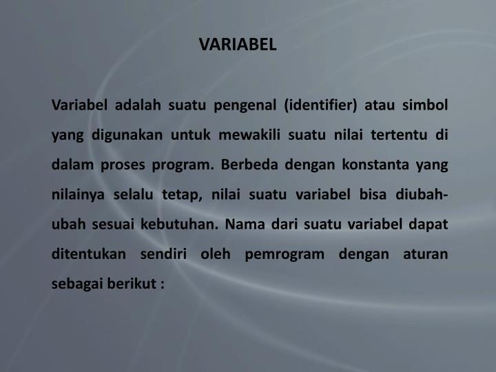VARIABEL