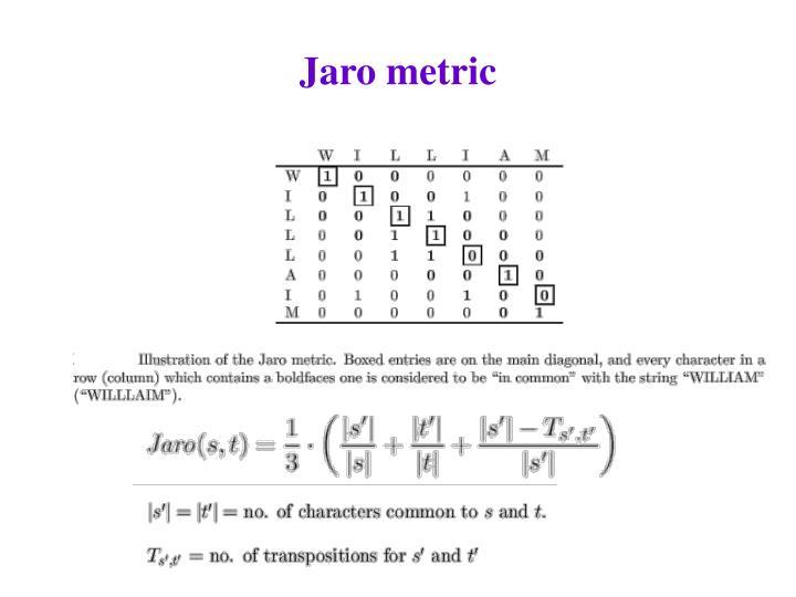 Jaro metric