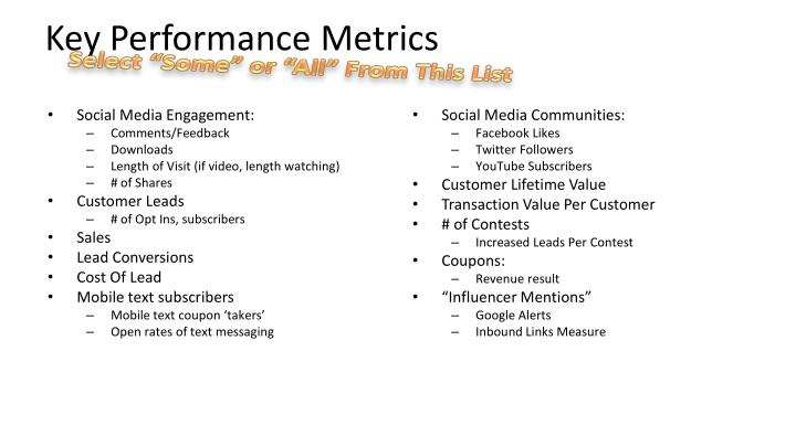 Key Performance Metrics