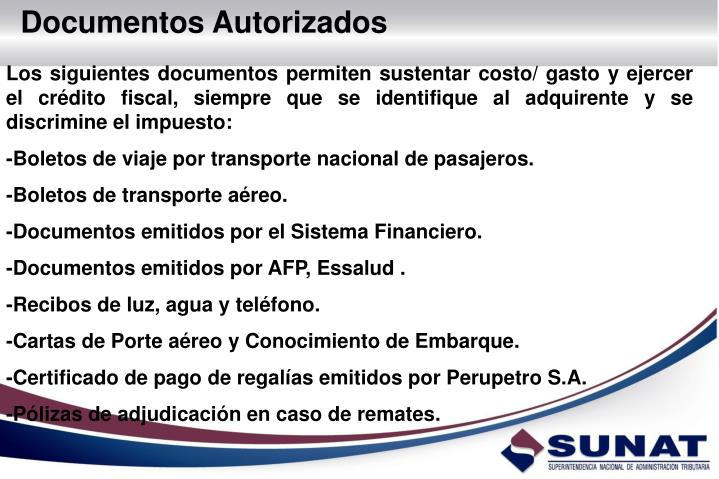 Documentos Autorizados