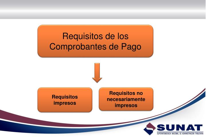 Requisitos de los Comprobantes de Pago
