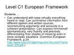 level c1 european framework