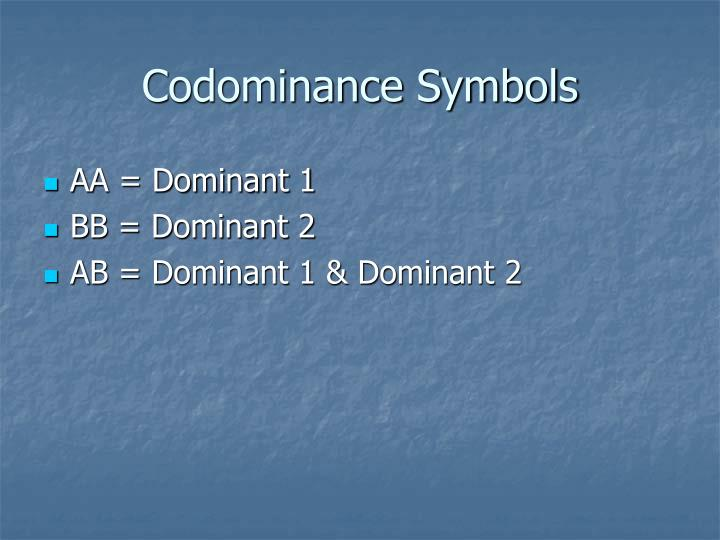 Codominance Symbols