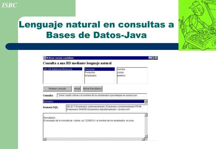 Lenguaje natural en consultas a Bases de Datos-Java