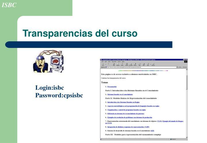 Transparencias del curso