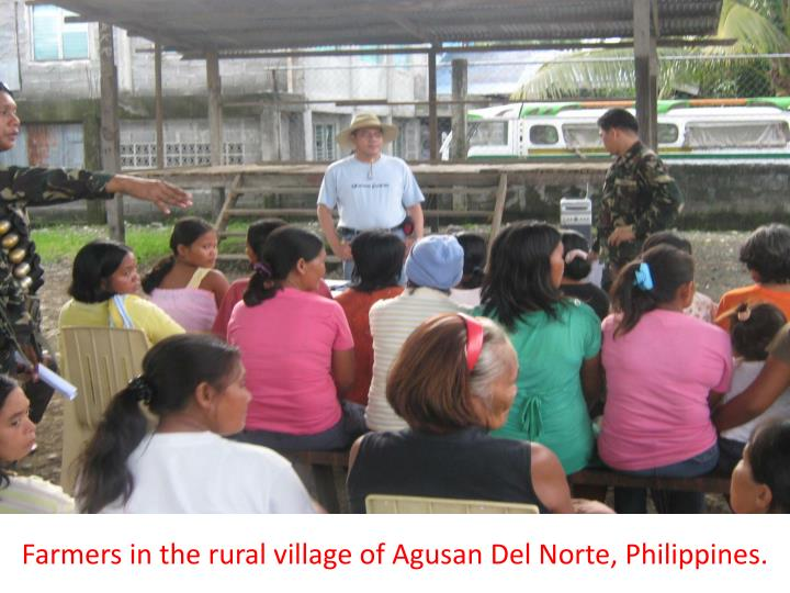 Farmers in the rural village of Agusan Del Norte, Philippines.