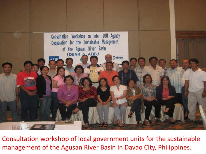 Consultation workshop of local government units