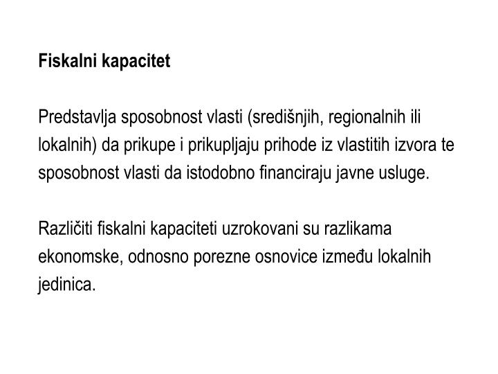 Fiskalni kapacitet