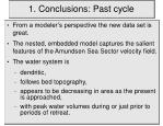 1 conclusions past cycle