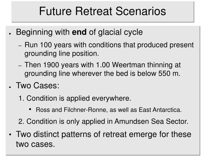 Future Retreat Scenarios