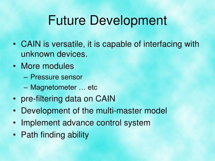 Future Development