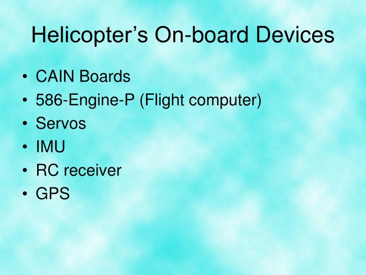 Helicopter's On-board Devices