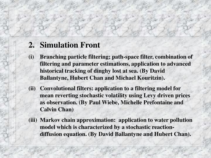 Simulation Front