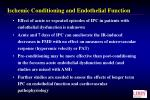 ischemic conditioning and endothelial function1