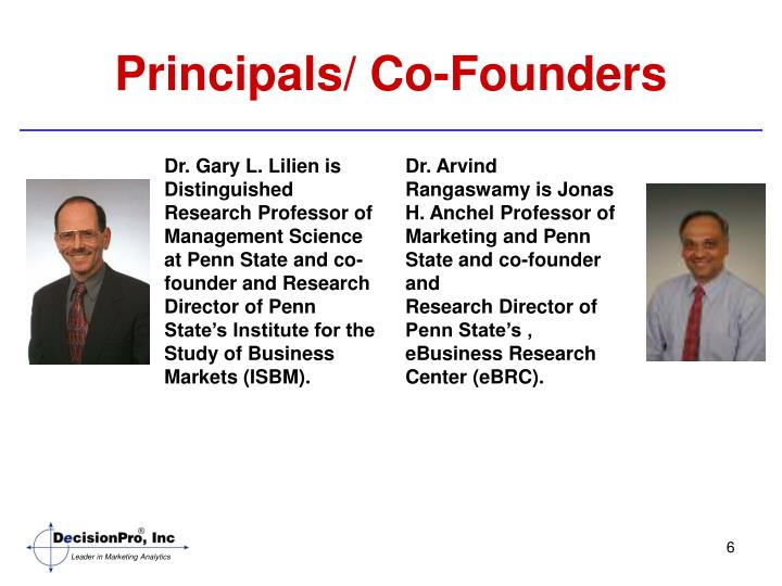 Principals/ Co-Founders