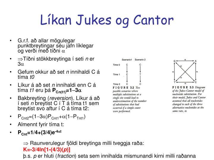 Líkan Jukes og Cantor