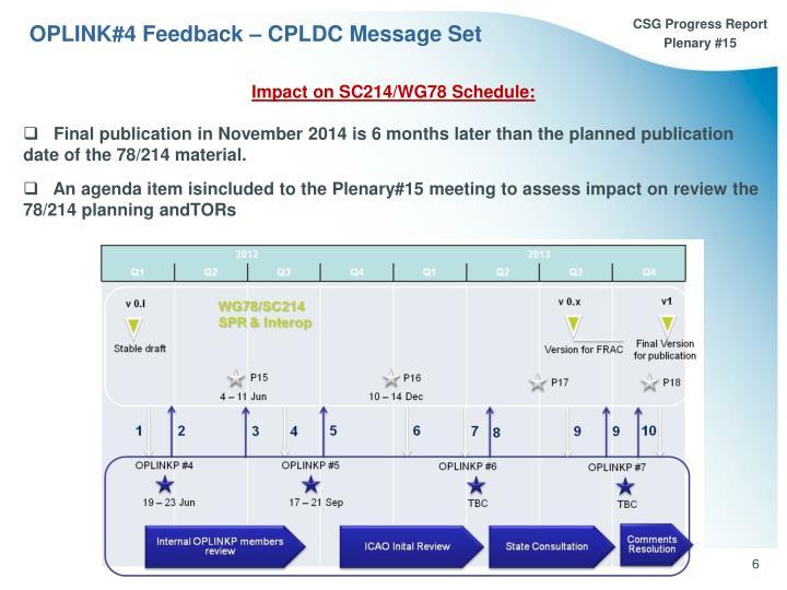 OPLINK#4 Feedback – CPLDC Message Set