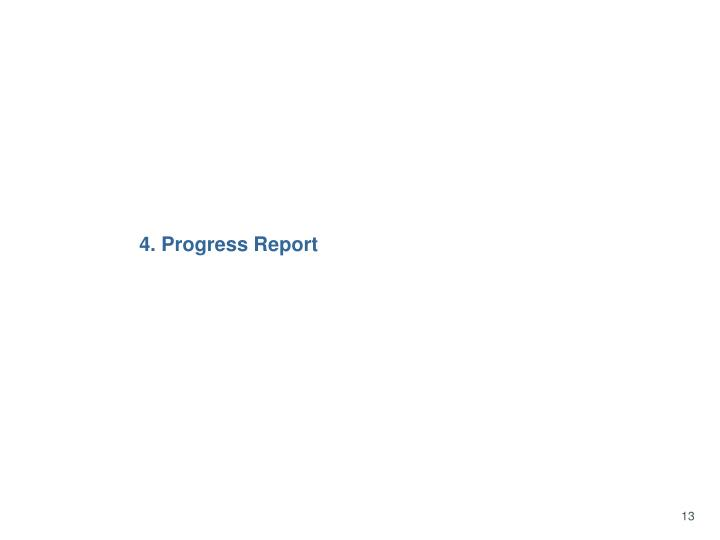 4. Progress Report