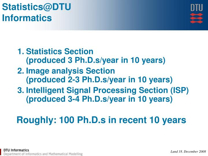 Statistics@DTU