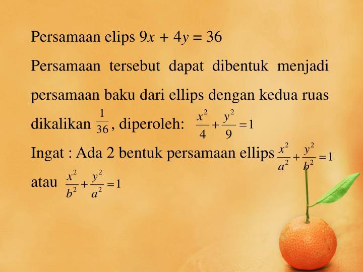Persamaan elips 9