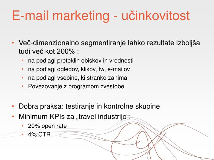 E-mail marketing - učinkovitost