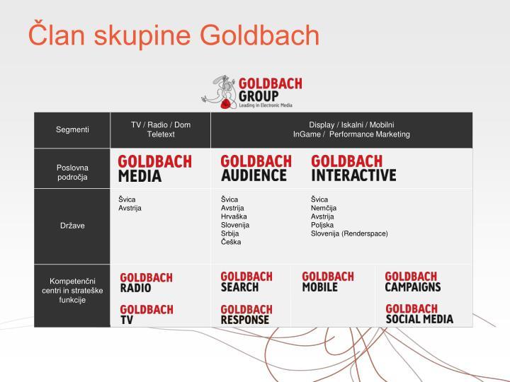 Član skupine Goldbach