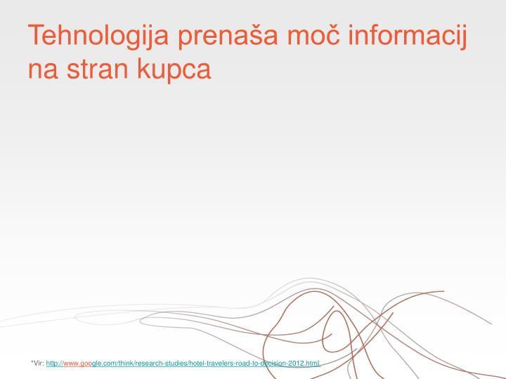 Tehnologija prenaša moč informacij na stran kupca