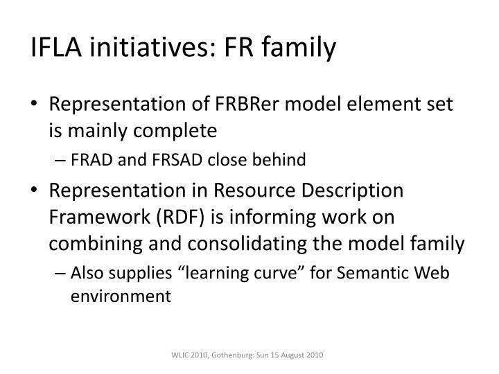 IFLA initiatives: FR family