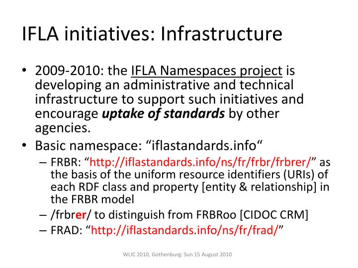 IFLA initiatives: Infrastructure