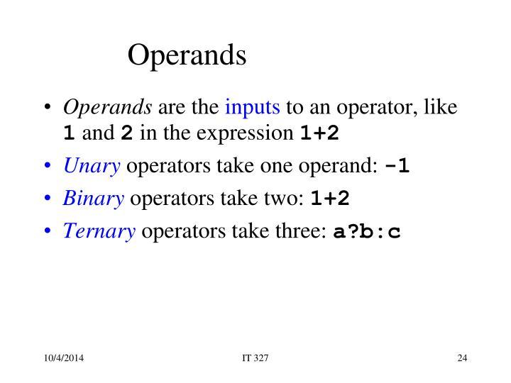 Operands