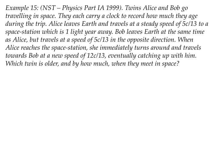 Example 15: (