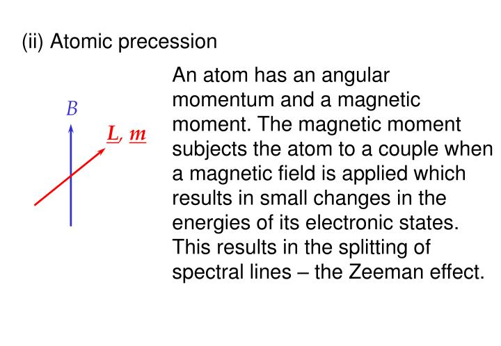(ii) Atomic precession