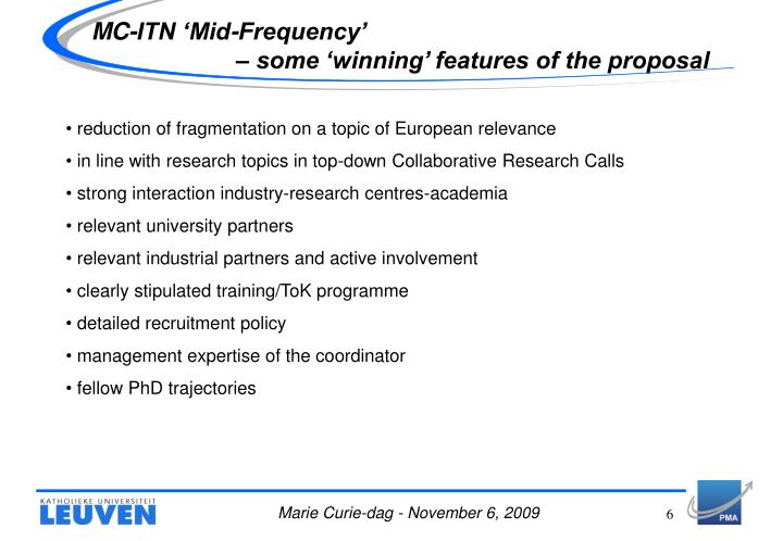MC-ITN 'Mid-Frequency'
