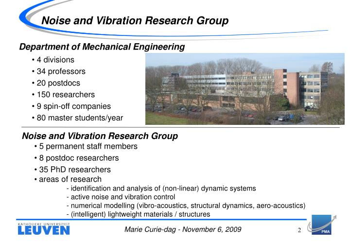 Noise and vibration research group