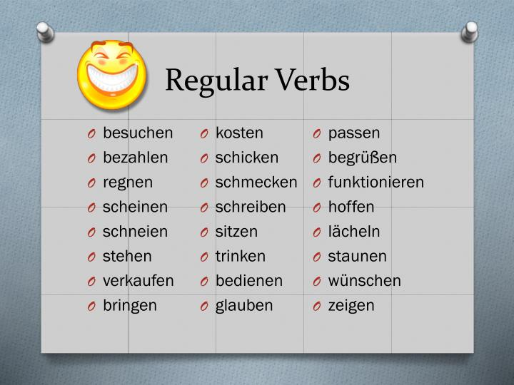 Regular verbs1