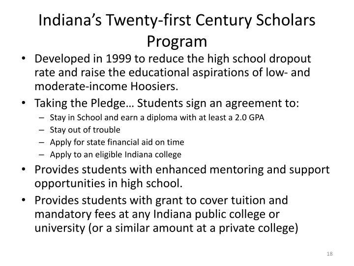 Indiana's Twenty-first Century Scholars Program
