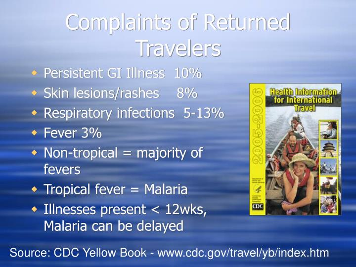 Complaints of Returned Travelers