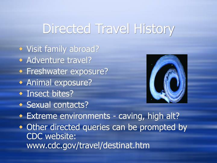 Directed Travel History