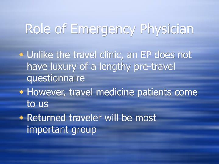 Role of Emergency Physician