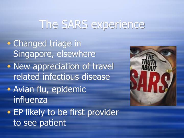 The SARS experience